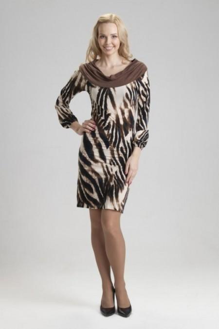 Платье с животными принтами