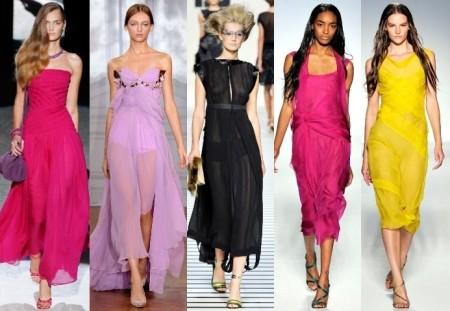 Длинные летние платья из шелка