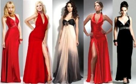 Формы и стили длинных платьев