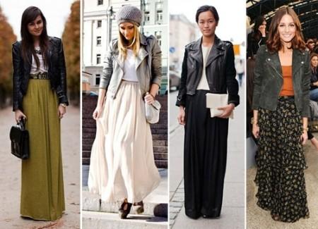 С чем лучше носить длинное платье