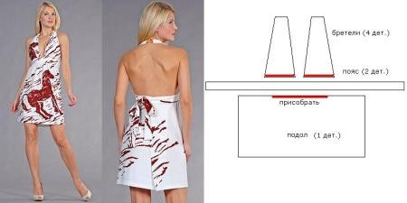 Крой подолов платья предельно прост