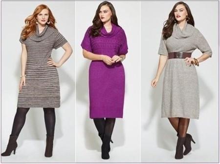 Нарядные платья для полных из трикотажа