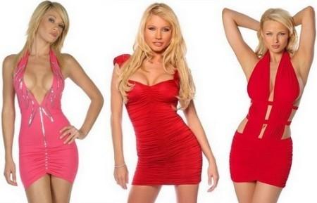 Красные короткие платья