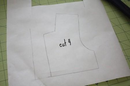 Следующей выкройкой у нас будет элемент передней части