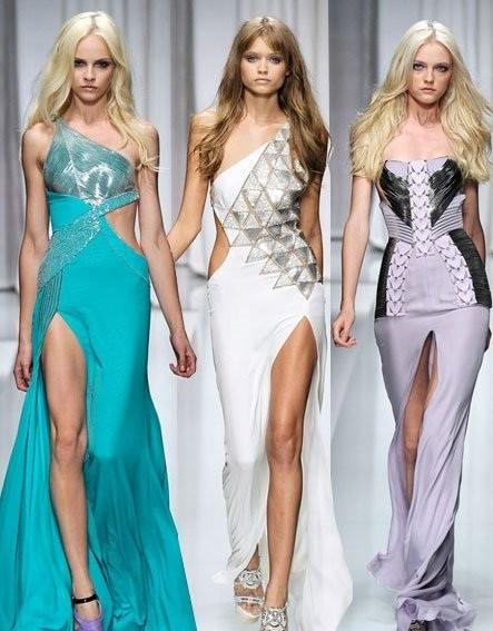 Длинные платья с откровенными разрезами