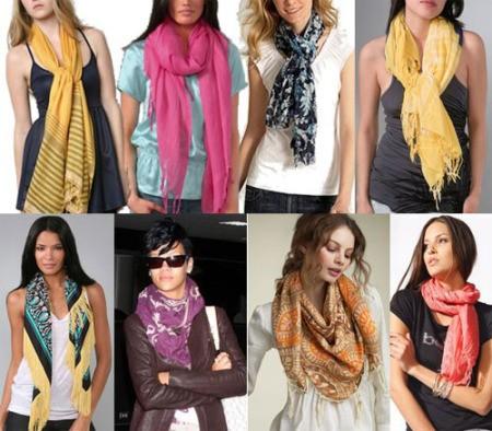 Необычное использование шарфа