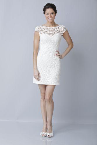 Короткие белые платья для невест