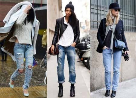 три фото джинс в стиле гранж
