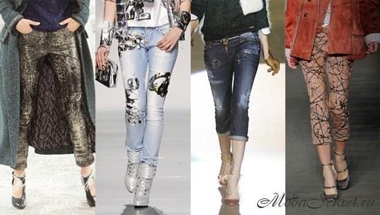 Модные джинсы осень 2012