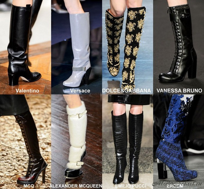 модные сапоги осень-зима 2012-2013