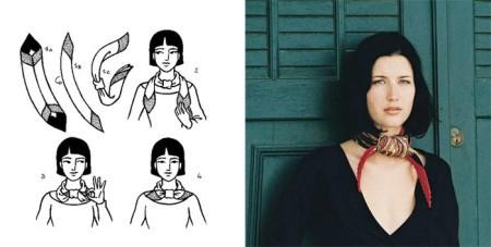 Способы ношения на шее